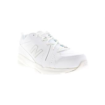 New Balance 608V5 Mens White Leather Athletic Lace Up Cross Training Shoes