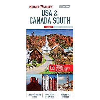 Insight Guides Travel Map USA & Canada South (Insight Maps) by In