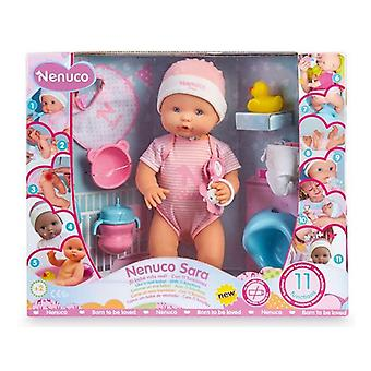 Babypop met accessoires Nenuco Sara Famosa (42 cm) Roze