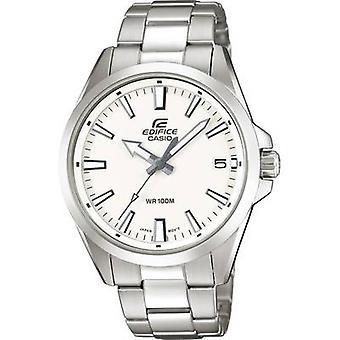 ساعة معصم كوارتز EFV-100D-7AVUEF (L x W x H) 48 × 42 × 10.9 ملم مواد الضميمة الفضية = مادة الفولاذ المقاوم للصدأ (حزام الساعة)=كاسيو الفولاذ المقاوم للصدأ