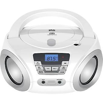 Silva Schneider PCD 19.1 Radio-cd-afspiller FM AUX, CD Hvid