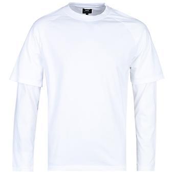 Edwin lange mouw wit honkbal T-shirt