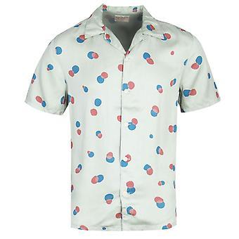 Nudie Jeans Co Arvid Random Dots Pale Green Short Sleeve Shirt