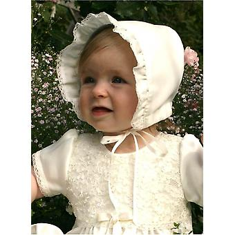 Doop Bonnet Grace-madde In Off White Satin
