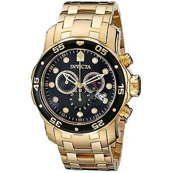 Invicta Pro-diver Chronograph Gold Tone 200m 0072 Men's Watch
