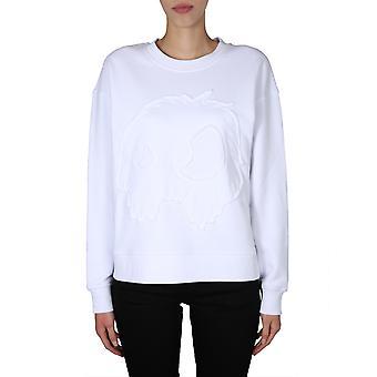 Mcq Door Alexander Mcqueen 577664roh119000 Women's White Cotton Sweatshirt