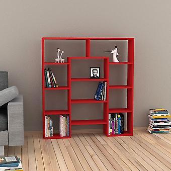 Libreria Passage Color Rosso in Truciolare Melaminico 123x24x135 cm