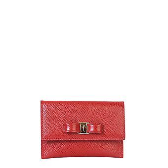 Salvatore Ferragamo 68353122d155 Femme's Portefeuille en cuir rouge