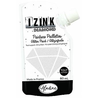 IZINK Diamond Glitter Paint 80ml-Mother Of Pearl