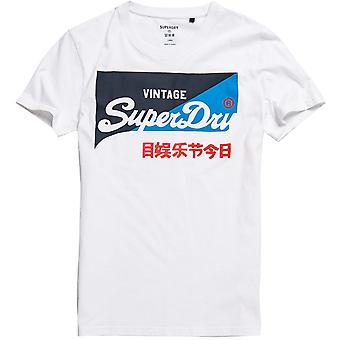 Superdry Mens Vintage Logo Orgánico Algodón Camiseta Primaria