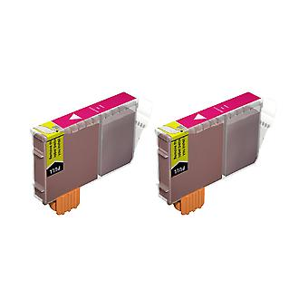 RudyTwos 2x Replacement for Canon BCI-6PM Ink Unit Magenta Compatible with PIXMA iP4000, iP5000, MP750, MP780, i865