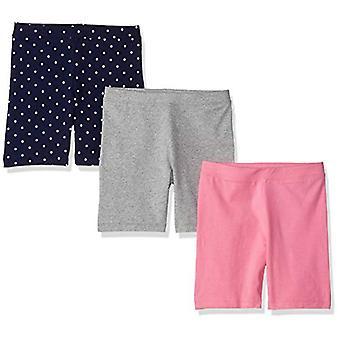 Marca - Spotted Zebra Girls' Little Kid 3-Pack Bike Shorts, Unicorn, S...