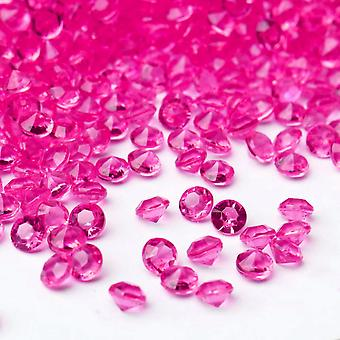 550 Acrylic 6mm Diamante Table Scatter for Weddings and Parties - Hot Pink