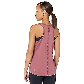 Core 10 Women's Standard Icon Series 'Scallop' Mesh Yoga, Rose, Size Small