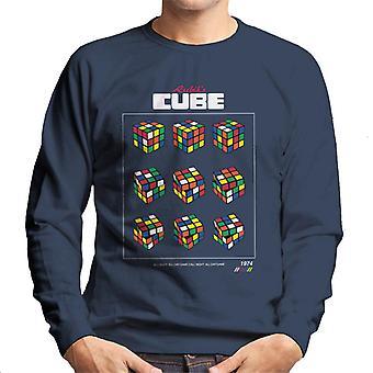 Rubik ' s retro kubus beweegt mannen ' s Sweatshirt