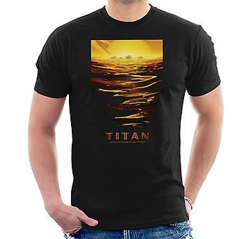NASA Titan interplanetare Reisen Poster Herren T-Shirt