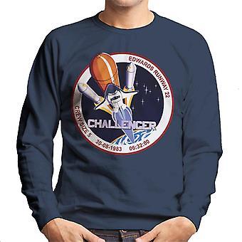 NASA STS 8 Challenger Mission Badge Men's Sweatshirt