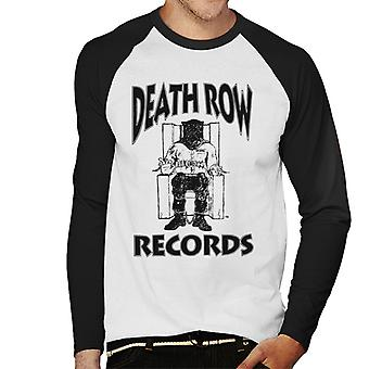 Death Row Records stoel Logo Black mannen honkbal lange mouwen T-Shirt