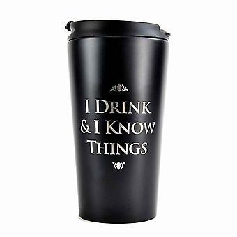 Игра Тронов поездки кружку я пью & я знаю вещи металла официальный черный в штучной упаковке