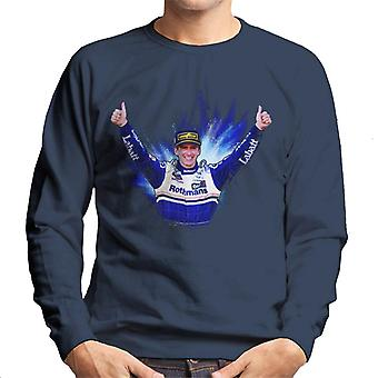 Motorsport bilder Damon Hill firar vinna på Japan Grand Prix män ' s Sweatshirt