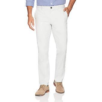 Pantalone chino piatto resistente alle rughe da uomo essentials, argento, 32W x 32L