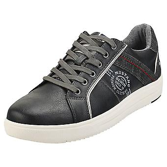 Mustang Low Top Sneaker Mens Casual Trainers na Marinha