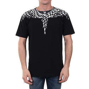 Marcelo Burlon Cmaa018f20jer0031010 Men's Zwart Katoen T-shirt