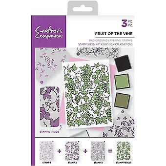 Crafter's Begleiter Obst der Rebe A6 Hintergrund Schichtung Briefmarken