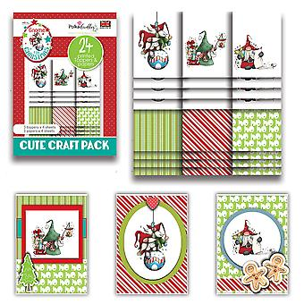Polkadoodles Gnome Ho Ho Cute Craft Topper Pack