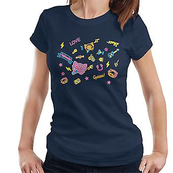Aggretsuko Neon Rock Rage Women's Camiseta