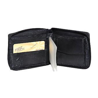 Primehide BASIC - Mens Leather Wallet - RFID Blocking - Preto / Marrom - 52
