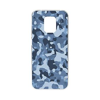 Hull For Xiaomi Redmi Note 9 Pro Soft Blue Military Camouflage