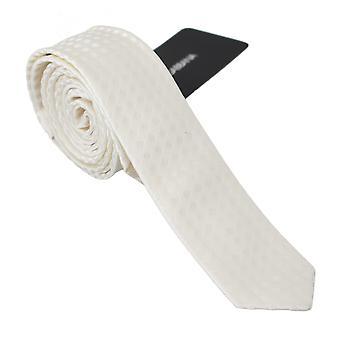 Dolce & Gabbana Bílá Tečkovaná 100% hedvábná klasická kravata - KRA7931760