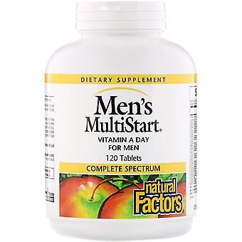 Natürliche Faktoren, Men's MultiStart, Vitamin A Day für Männer, 120 Tabletten