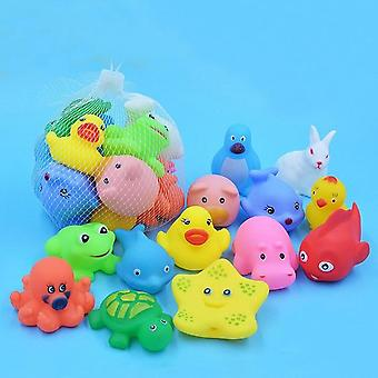 Mixed Animals Colorful Soft Squeeze Sound Floating Rubber Swimming Watertoys