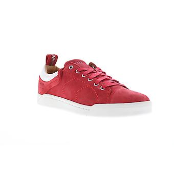 Diesel Tempus S-Marquise Low Mens Red Suede Lace Up Lifestyle Sneakers Shoes