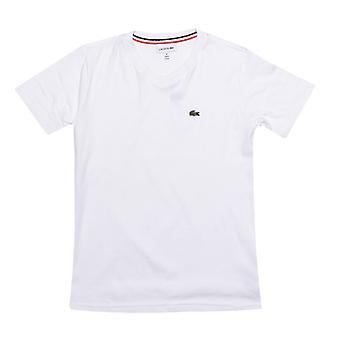 Gutt's Lacoste Junior Logo V Hals T-skjorte i hvitt