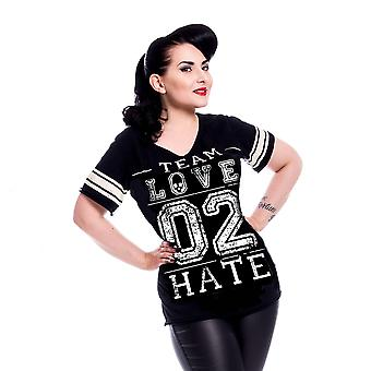 Harteloos - liefde 2 haat - womens zwart t-shirt