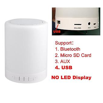 Colorful Night Light Wireless Bluetooth Speaker -smart Portable Touch Control