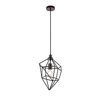 Luminosa Belysning - Medium Bur Loft Vedhæng, 1 x E27, Sort Nikkel