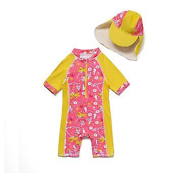 Bonverano vauva tytöt UPF 50 + aurinkosuoja lyhyet hihat vetoketju aurinkopuku