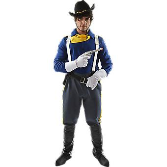 Orion kostuums mens USA cavalerie soldaat Cowboy fancy dress kostuum