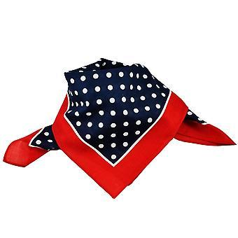 Krawatten Planet Marine blau & weiß Polka Dot mit roten Trim Bandana Neckerchief