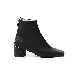 Mm6 Maison Margiela S66wu0011pr516t8013 Femmes's Bottes en cuir noir
