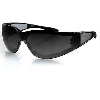 Balboa ESH201 Black Frame Shield II Sunglass - Smoked Lens