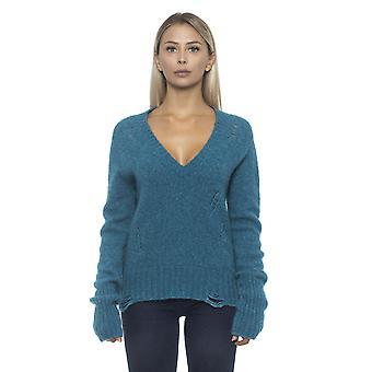 المرأة ألفا استوديو الأخضر Pullover