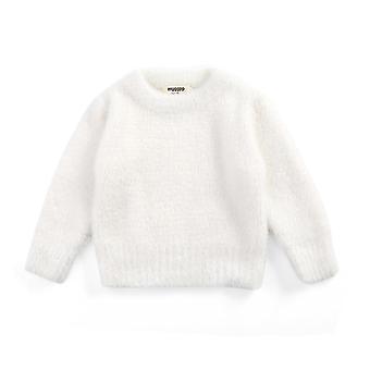 Pulls Winter Wear Style Imitation Mink Jacket Sweater 1-3 Ans