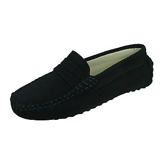 Angela Brown Barnie Pojat Moccasin Smart Shoes Slip on - Musta