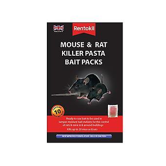 Rentokil Mouse & Rat Killer Pasta Bait, 10 Sachets RKLFMR52