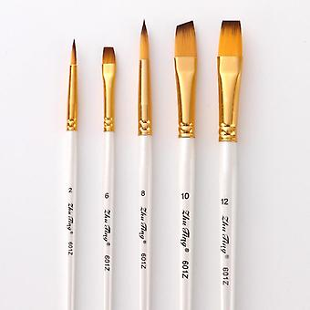 Nylon Hair Handle Artist Brushes For Acrylic And Oil Painting Watercolor Brush